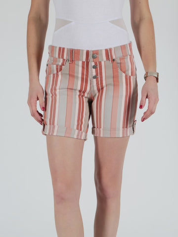 Miracle Of Denim, Ulla Shorts Red Wide Stripe