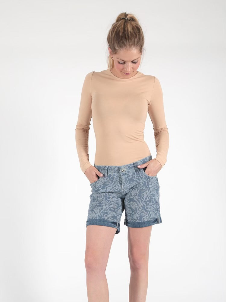 Miracle Of Denim, Lessi Shorts SP21-2005, Palm Denim Allover