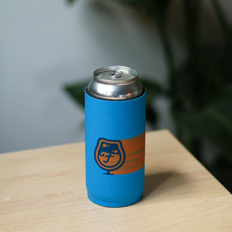 Koozie - Blue and Orange Design