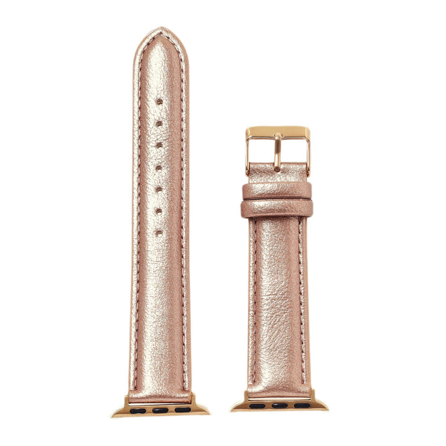 Rose Gold Metallic Smart Watch Band
