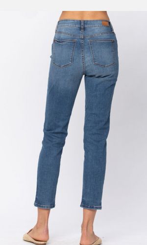 Judy Blue Non-Distressed Relaxed Jeans - Style 8115