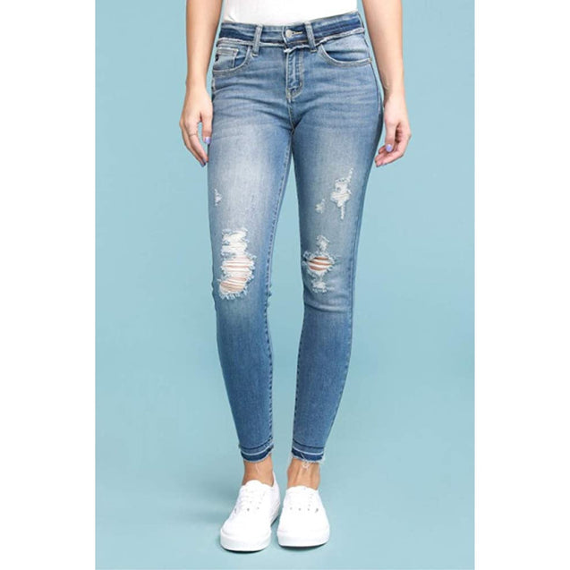 Judy Blue Raw Waistband Skinny - Final Sale