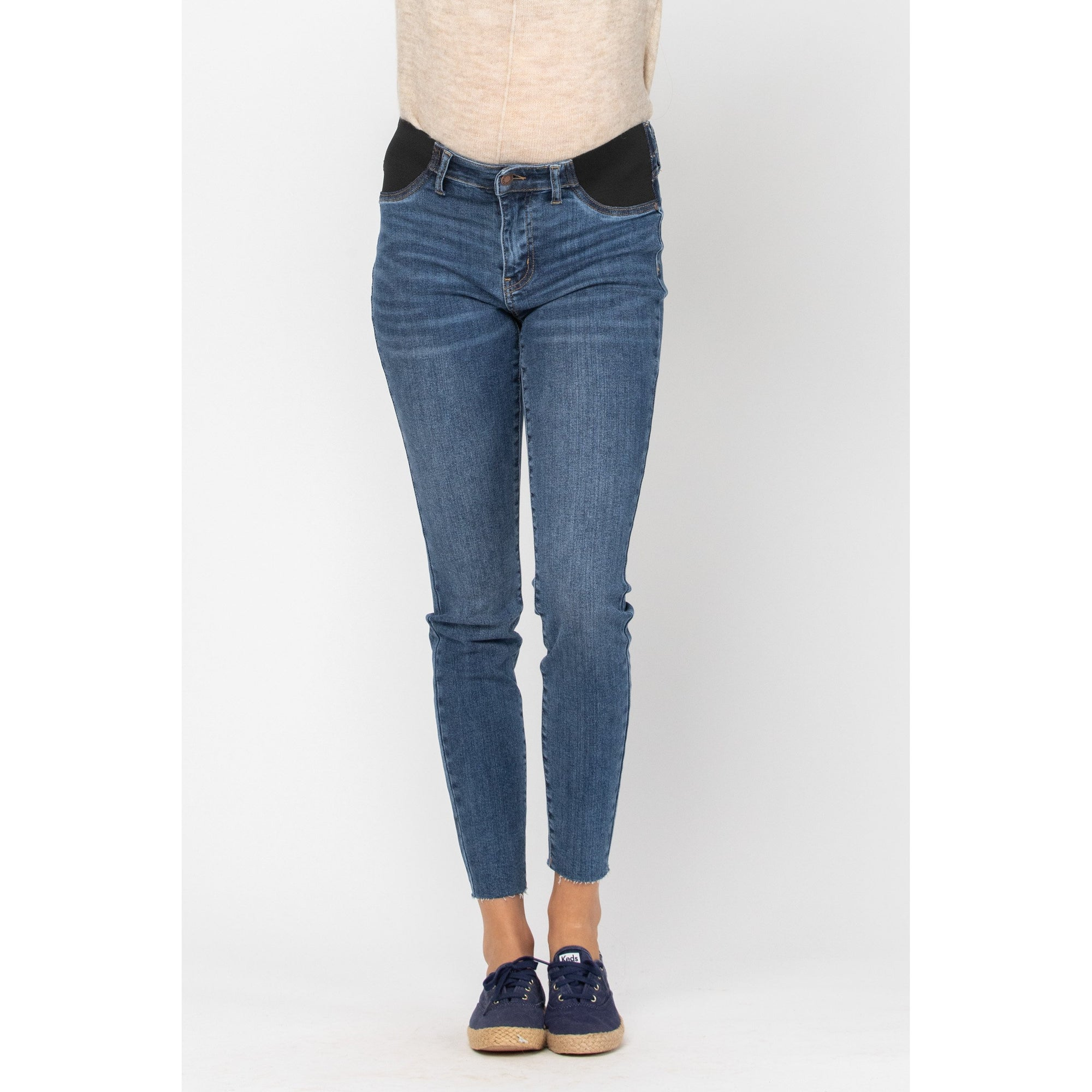 Judy Blue Maternity Raw Hem Skinny Jeans - Style #9806 - Online Only