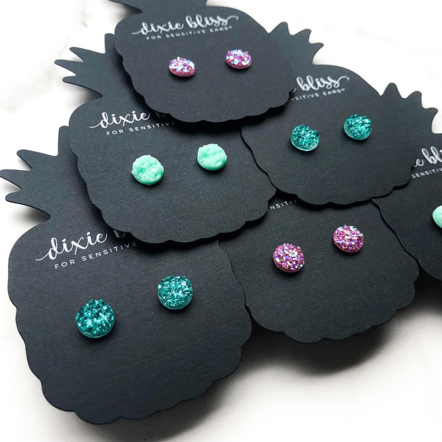 Drops of Spring Single Stud Earring Sets - Multiple Colors