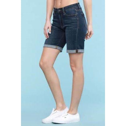 Judy Blue Cuffed Bermuda Shorts - *Online Only*