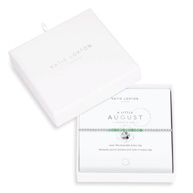 "Katie Loxton ""A Little"" Birthstone Bracelet - August"