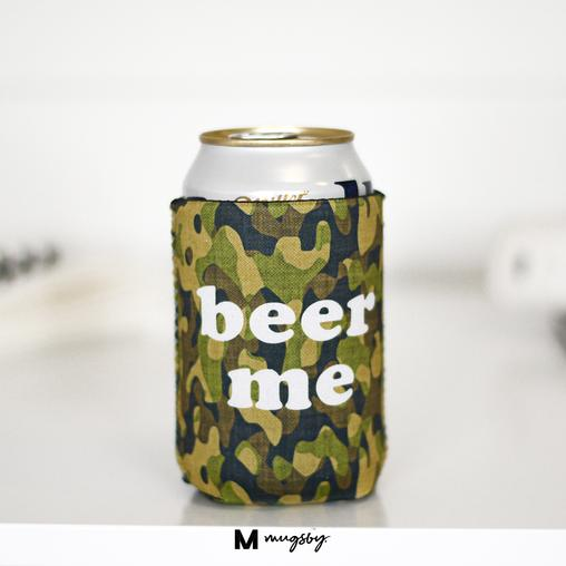 "Camo ""Beer Me"" Can Cooler"