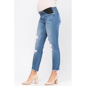 Judy Blue Maternity Boyfriend Jeans - Style #9802 - Online Exclusive