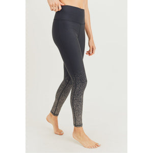 Black w/ Copper Foil Ombre Leggings - Online Exclusive