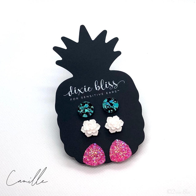 Camille Triple Stud Earring Set