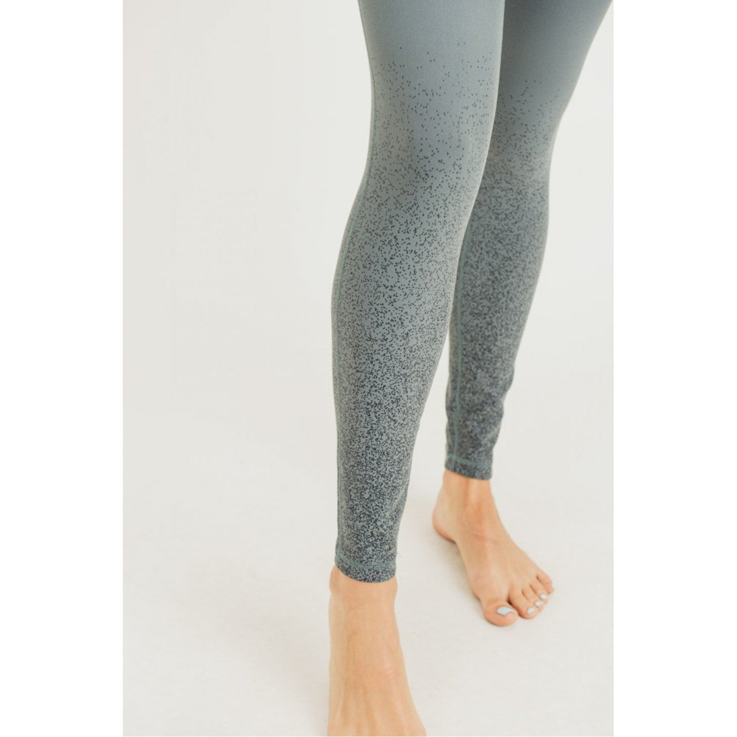 Grey Foil Ombre Leggings - Online Exclusive