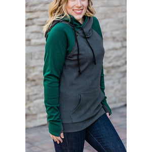 Charcoal & Dark Green Double Hoodie