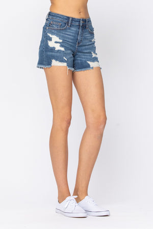 Judy Blue Destroyed Cut-Off Shorts - Style 150054 - Online Exclusive