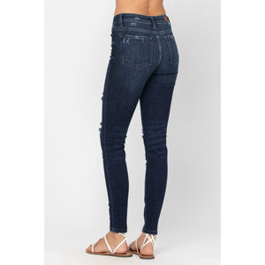 Judy Blue Mid-Rise Destroyed Skinny - Style #82214