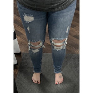 Judy Blue High Rise Knee Destroyed Skinny - Style #8884