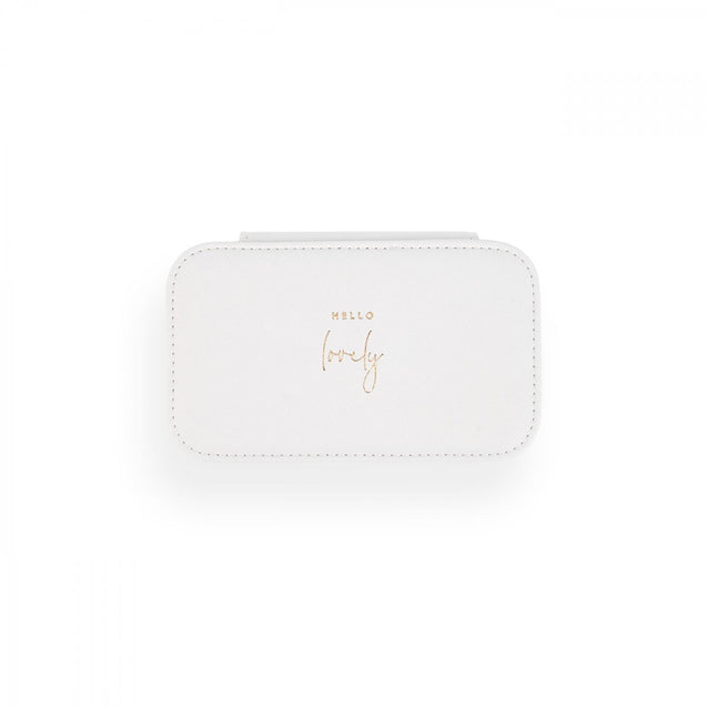 Katie Loxton Medium Jewelry Box - White - Hello Lovely
