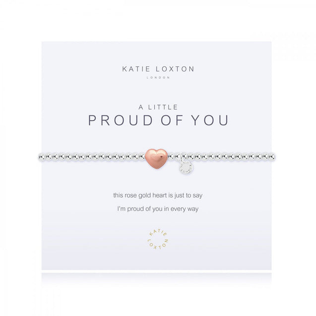 "Katie Loxton ""A Little"" Proud of You Bracelet - Heart"