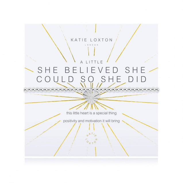 "Katie Loxton ""A Little"" She Believed She Could So She Did Bracelet"