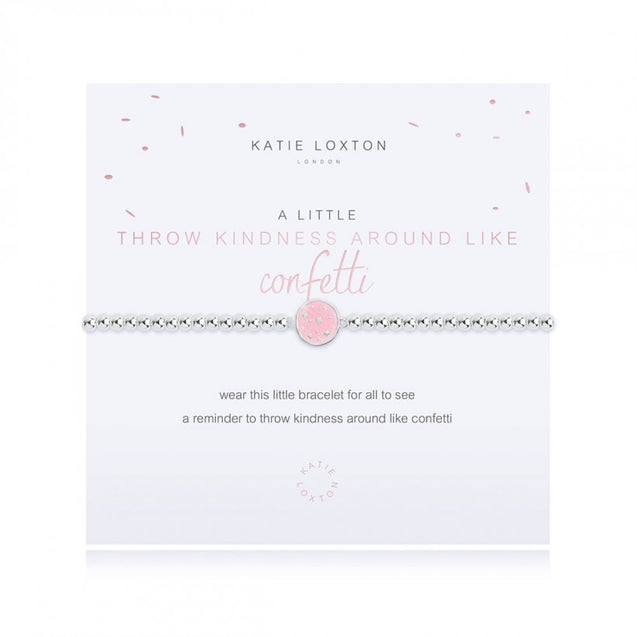 "Katie Loxton ""A Little"" Throw Kindness Like Confetti Bracelet"