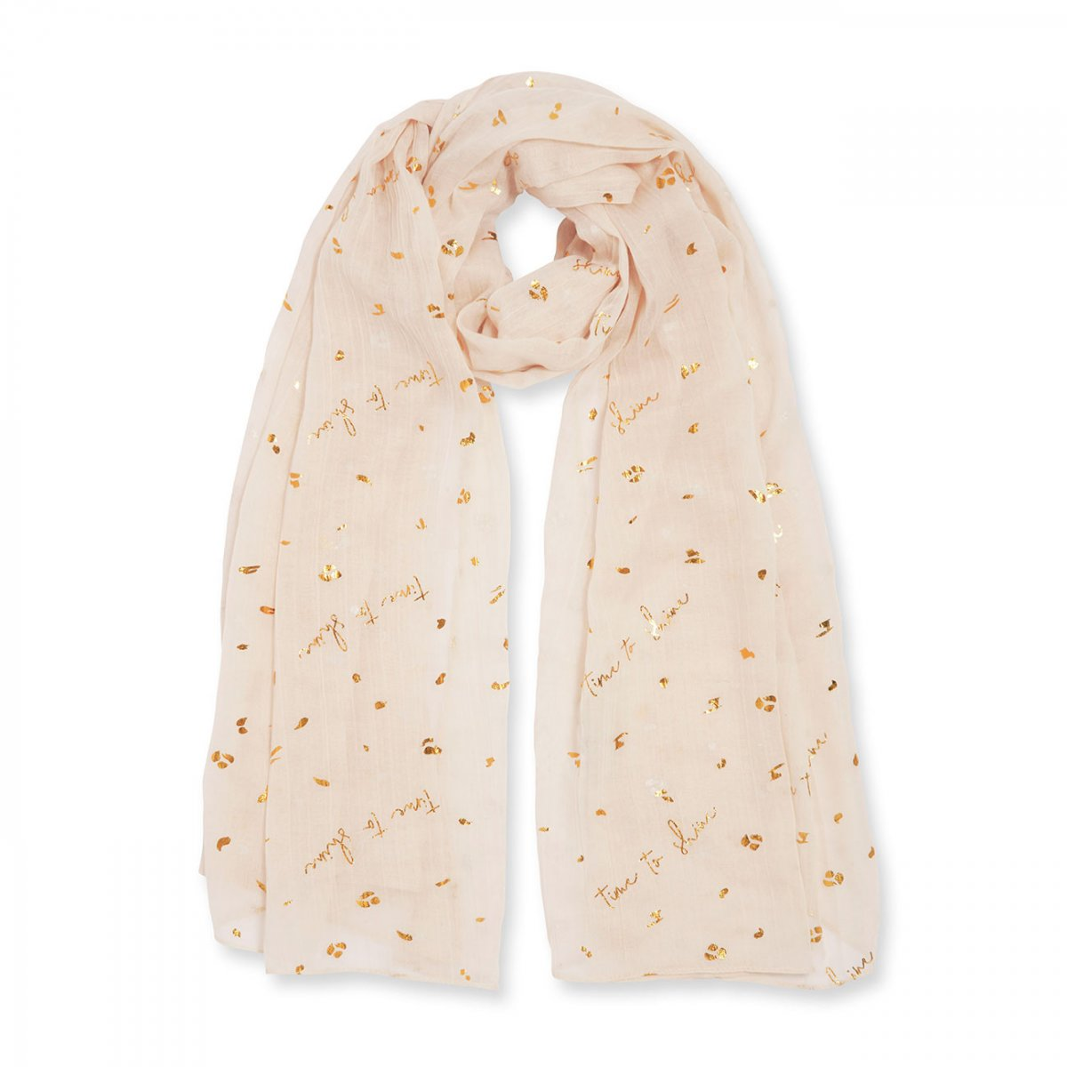 Katie Loxton Metallic Sentiment Scarf - Time to Shine