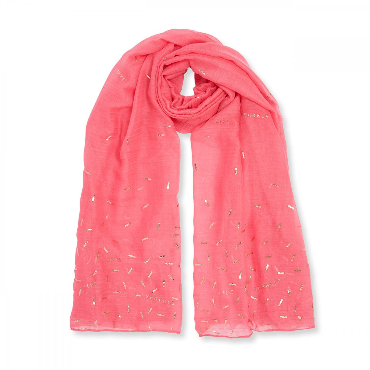 Katie Loxton Metallic Sentiment Scarf - Live Love Sparkle