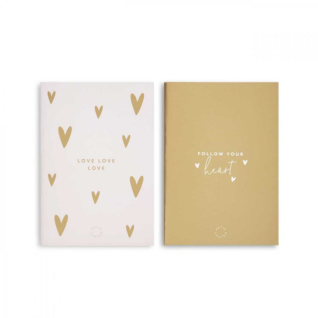 Katie Loxton Duo Notebook Pack - Pink & Gold