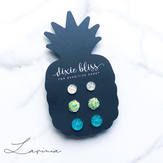 Lavinia Triple Stud Earring Set