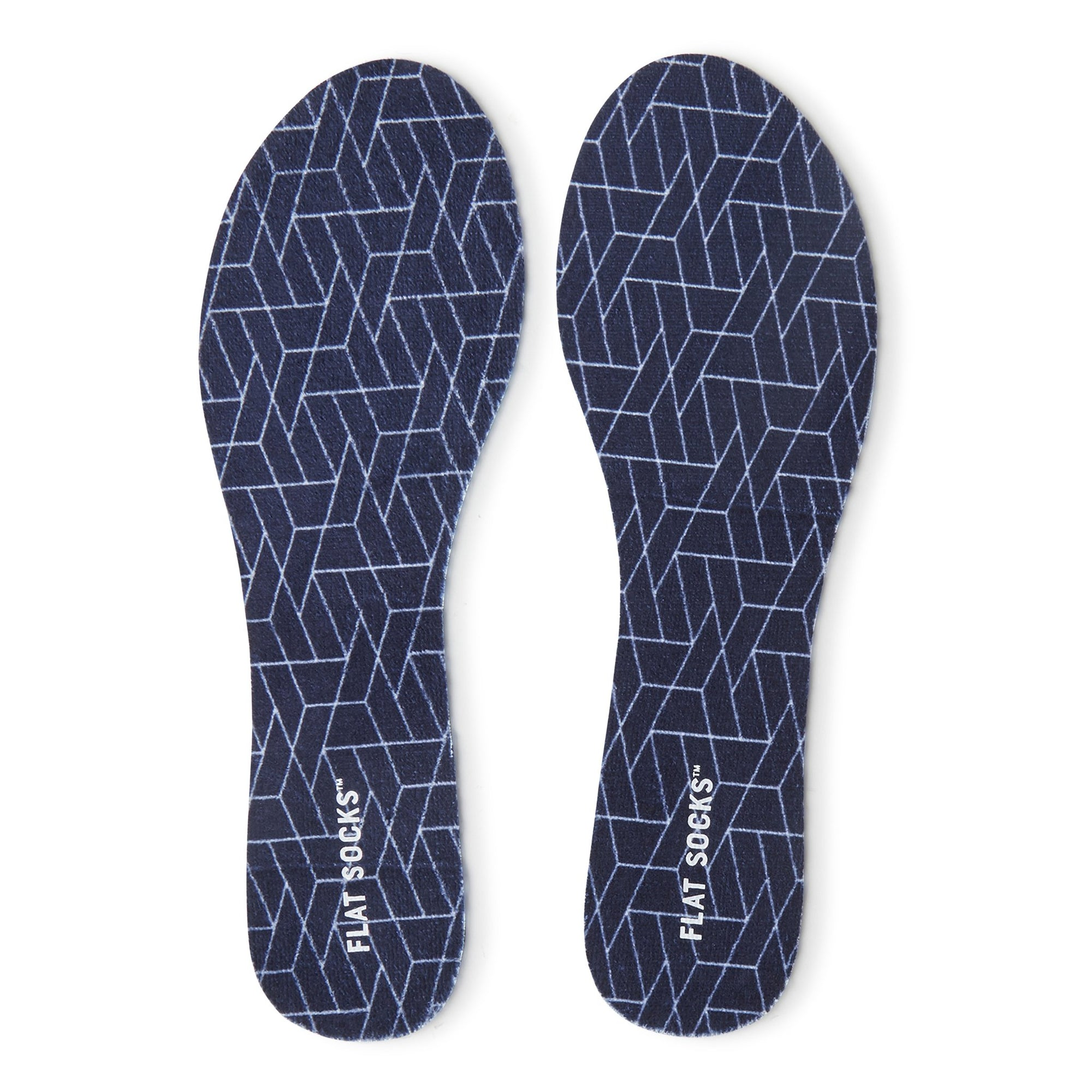 Navy Terry Flat Socks