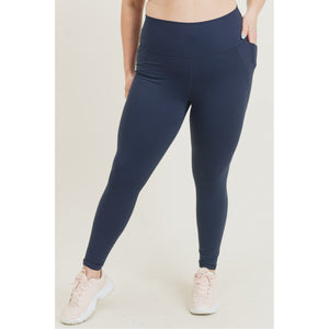 Navy Essential Leggings w/ Pockets