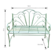 Antique Green Ava Steel Garden Bench - sweet pea interiors