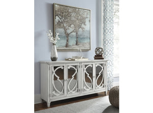 Avery Antique White Timber Mirror Buffet Sideboard