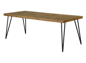 Barnhouse 2.2m Indoor Rustic Timber Dining Table - Mid Century - Oslo