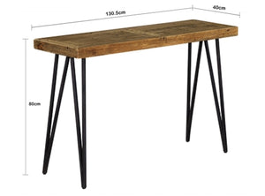 Barnhouse Timber Indoor Hall Table - Mid Century - Oslo