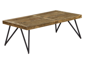 Barnhouse Timber Rustic Indoor Coffee Table - Mid Century - Oslo