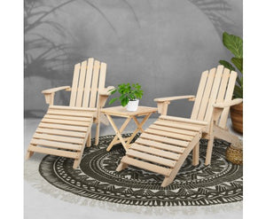 Outdoor Chairs Table Set Sun Lounge Patio Furniture Beach Chair Lounger