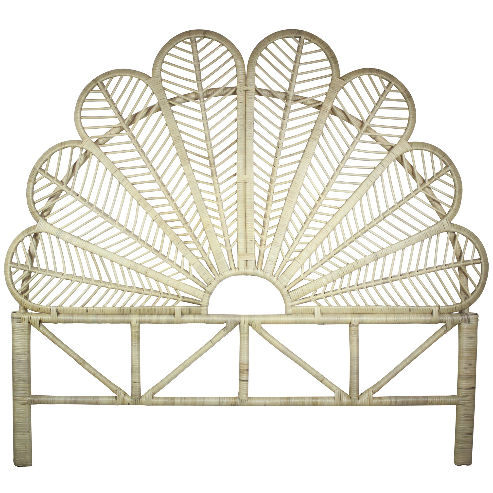 Luana Queen Rattan Headboard Sweet Pea Interiors