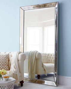 Modern Large Brand New Stunning Crystal Glass Beaded Bevelled Wall Mirror