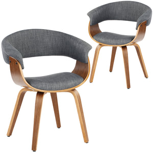 Bentwood Upholstered Wooden Dining Chairs (Set of 2)