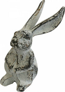 Rabbit Long Ears Metal Ornament Decoration Shabby Chic Country Farmhouse Decor
