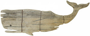 Whale Wooden Wall Art Decoration Hamptons Coastal Beach House Decor