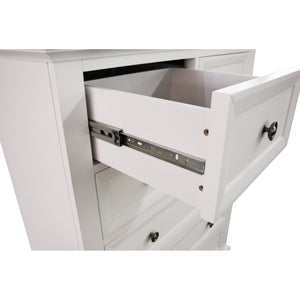White Sala Tallboy with 6 Drawers
