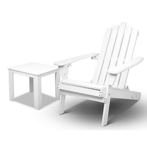 2 Piece Outdoor Beach Chair and Table Set