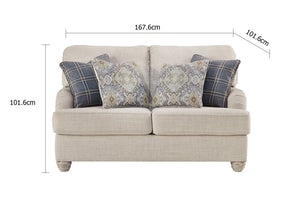 Isabelle 2 Seater Indoor Fabric Lounge
