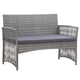 vidaXL 4 Piece Garden Lounge Set with Cushion Poly Rattan Anthracite Dark Gray - sweet pea interiors