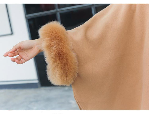 Fashion Woollen Outwear Fur Collar - Chicshoeshop