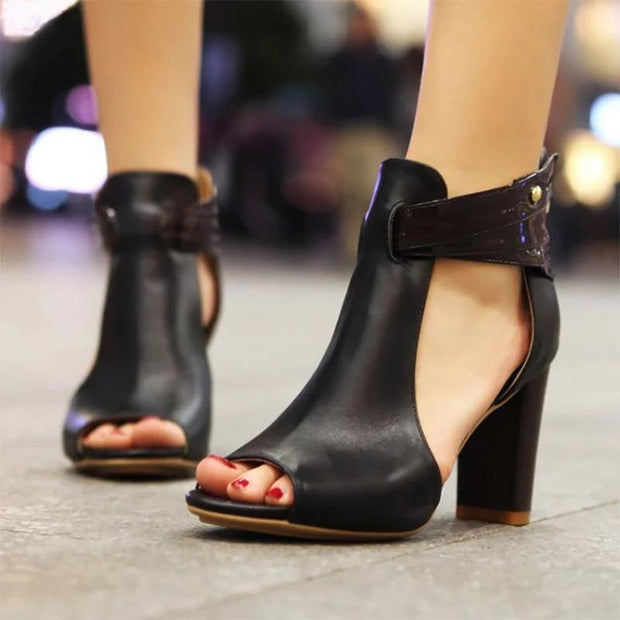 2019 Summer Peep Toe Fashion Sandals - Chicshoeshop