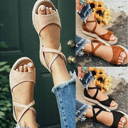 Ladies Cross-tie Summer Casual Sandals - Chicshoeshop