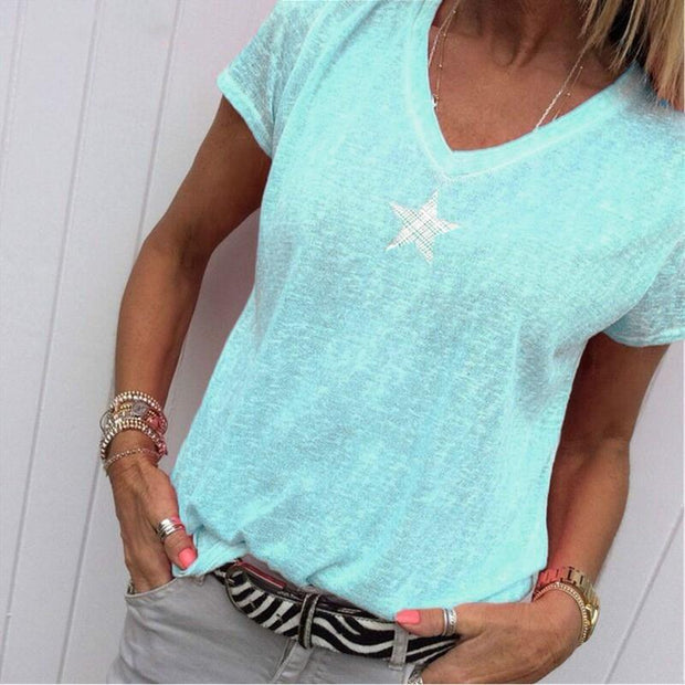 Women Plus Size Casual Short Sleeve T-Shirts
