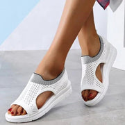 Summer Large Size Mesh Fabric Breathable Comfy Sandals