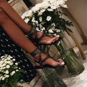 Ankle Strap Flat Heel Strappy Comfortable Sandals For Women - Chicshoeshop